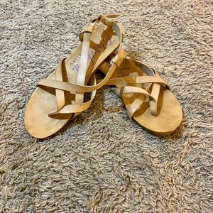 Blowfish Tan Sandals